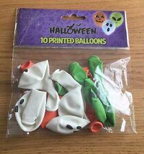 10 X Halloween Globos De Halloween Espeluznante Impreso-Decoración-Nuevo