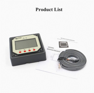 Remote meter / display / monitor for dual battery solar panel charge controller