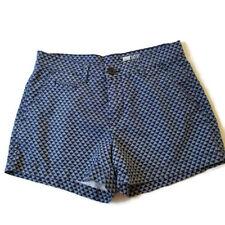 Gap Womens 00 Chino Shorts Blue White Print Pockets G7MP