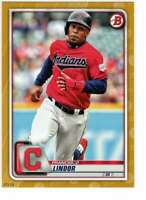 Francisco Lindor 2020 Bowman 5x7 Gold #4 /10 Indians