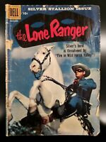 1958 Dell LONE RANGER Comic #123 Clayton Moore Photo Cover