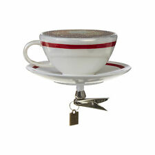 Coffee Brown Espresso Clip-On 4 inch Glass Decorative Christmas Ornament