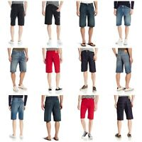 Levis 569 Loose Straight Men's Denim Shorts Zipper Fly Knee Length