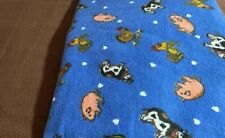 Flannel Fabric Duets- Barnyard Animals/Brown  Priced by the yard (1/2 yd of ea)