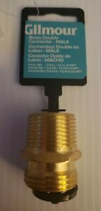 """Gilmour Brass Thread Connector  3/4"""" Male 3/4"""" Male 1/2"""" Female 7MH7MP5P"""