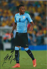 Abel HERNANDEZ Signed Autograph 12x8 Photo AFTAL COA Uruguay Striker