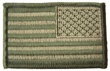 "GREEN CAMO AMERICAN FLAG right arm PATCH P9001 NEW 3"" BIKER EMBROIDERED military"
