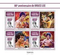 Togo Famous People 2020 MNH Bruce Lee Martial Arts Actors 4v M/S