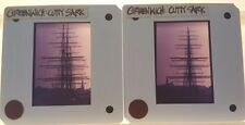 2 Vintage CUTTY SARK SHIP BOAT 35mm Picture Slides in GREENWICH ENGLAND
