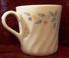Vtg Corning English Meadow Coffee Cup Mug White Swirl Small Multicolor Flowers