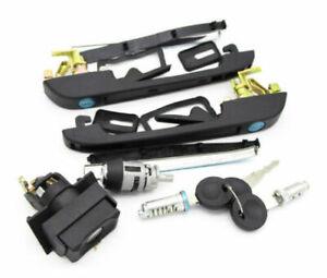 Left Right Door Handle Lock Set For VW Golf Jetta Caddy Passat Polo Scirocco
