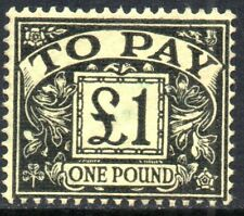 1963 Sg D68 £1 black/yellow Postage Due Fine Used