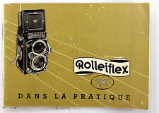 Original Rolleiflex 2.8 F Instruction Manual in French - 36 pages,  Nov. 1961