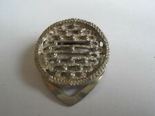 Round Scarf Ring In Silver Coloured Metal Marked C 413