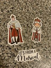3 Hamilton Stickers King Quote Broadway It's From A Musical Decal Jonathan Groff