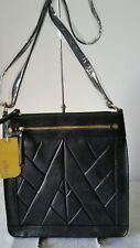 Vershe* Stunning Milleni handbag, cross body, Black, fancy panel front,Gift, NWT