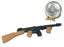 Dollhouse Miniature Toy Gun Thompson Metal Island Crafts 1:12 Scale