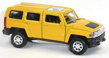 NEU: Modellauto Hummer H3 SUV ca. 11,5cm gelb - Neuware von WELLY