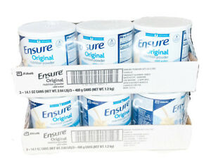 6 Cans Ensure Original Nutrition Powder VANILLA 14 oz Pack Of 6