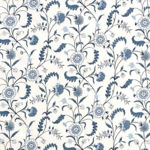 Sister Parish Tatiana Linen  Fabric Blue and White BTY