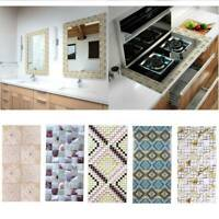 Mosaic 3D Self Adhesive Wall Tile Sticker Vinyl Bathroom Kitchen Home Decor