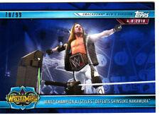 2019 Road to WrestleMania #96 WWE Champion AJ Styles SSP BLUE #78/99 MADE..