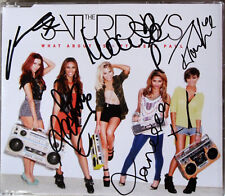 THE SATURDAYS ft SEAN PAUL * WHAT ABOUT US * UK 3 TRK CD w/ SIGNED SLEEVE * BN&M