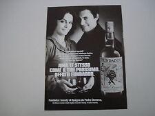 advertising Pubblicità 1979 BRANDY FUNDADOR