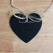 HEART BLACKBOARD GIFT TAGS Chalkboard Signs Party Favours Bonbonieres 12 pcs