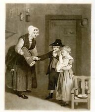 "Engraving from Graham etc. ""BOY & GIRL"" - 1840-60"