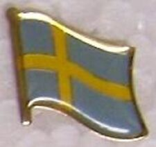 Hat Lapel Pin Tie Tac Push Flag of Sweden NEW