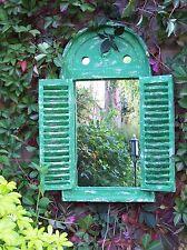 Gardening Gift - Garden mirror with shutters - Renaissance - Green