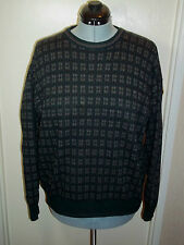 Alberto Danti SawTooth Check Sweater Wool Acrylic Blend Mens sz L Made in Italy