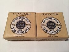 LOT OF 2 L'occitane Extra Gentle Milk Soap Shea Butter   1.7 oz EACH