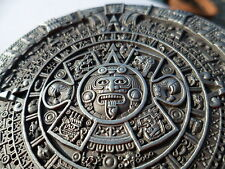 Pewter AZTEC CALENDAR Belt Buckle Mayan Indian DETAILED