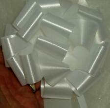 20 White Wedding Flowers Prom Party Florist Ribbon Pull Bows Car Pew End
