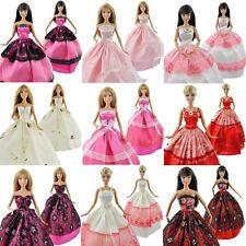 US 5pcs Barbie Doll Fashion Princess Dresses Outfits Party Wedding Gown Clothes