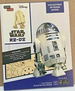 Disney Star Wars Incredibuild  R2-D2 3D Wood Model Set & Booklet