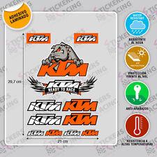 KTM RACING ADHESIVO MOTO PEGATINA STICKER  AUFKLEBER AUTOCOLLANT ADESIVI ref 3