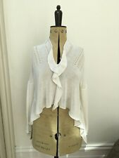 Funky Crea Concept White Knit Loose Knit Mesh Jumper Over Top Size 12-14