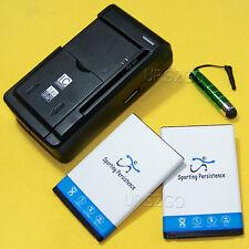 Sporting 2560mAh Battery USB/AC Charger Stylus for LG Optimus Dynamic L38C Phone