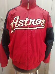 HOUSTON ASTROS On Field Dugout Jacket Medium Majestic Authentic Collection