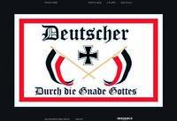 Deutscher durch die Gnade Gottes Blechschild Schild gewölbt Tin Sign 20 x 30 cm