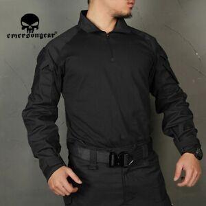 Emerson G3 BDU Combat Shirt Clothes Tactical Shirt Solid Tops Black long sleeve