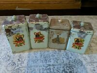 Vintage 30's-40's - 4 Piece Kitchen Canister Set