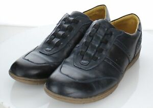 24-66 Men's Sz 11.5 D Sandro Moscoloni Leather Loafer In Navy