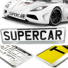 CAR NUMBER PLATE HOLDER SURROUND FRAME BEST SUPER CHROME SUPERCHROME TUNNING