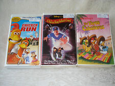 Chicken Run/Kid King Arthur's Court/Three Caballeros Disney Children's VHS Tapes