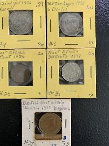 1930's Mozambique, East & West African Coins / *No Reserve!