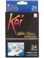 Sakura Koi 24-Piece Assorted Water Colors Field Sketch Set with Brush XNCW-24N